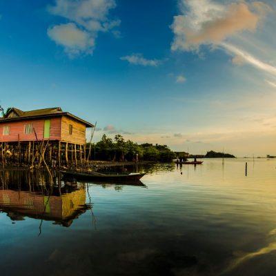 Ancient Stilt houses in Tanjung Uma Batam